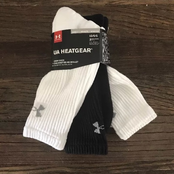 Under Armour Mens Heatgear Crew Socks